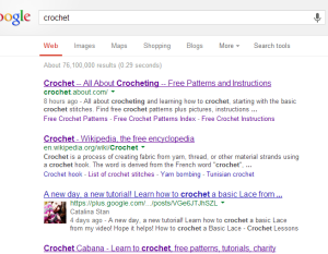 Google Search for Crochet