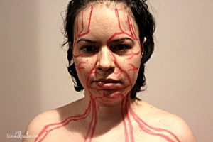 What if blood vessels were visible on our bodies?