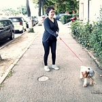 "Day 30: 23 Sep 2014 – ""Catalina is having a walk with Pufi:) """
