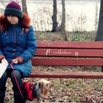 "Day 116: Dec 21st, 2014 – ""Me, Pufi and The Bench on the Danube River"""