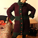 "Day 74: November the 8th, 2014 – ""Gift from Mom – a crocheted jacket and hat"""