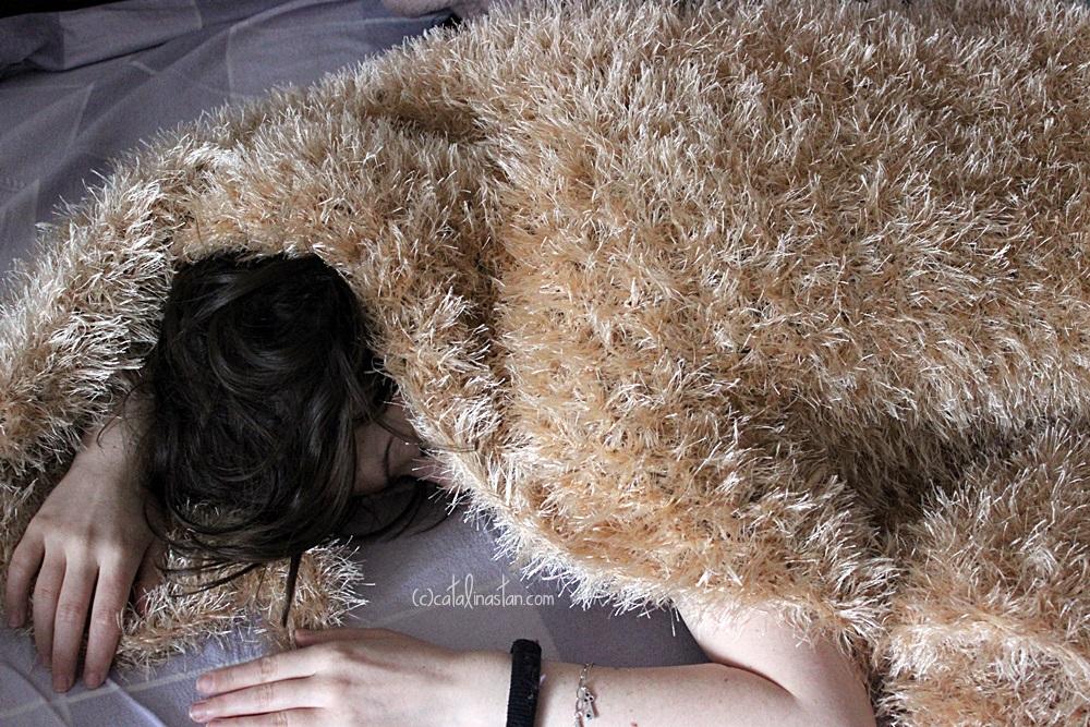 Fluffy Crocheted Shawl